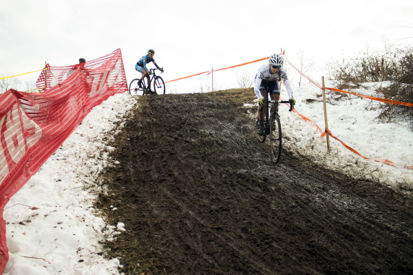 Day 2's muddy descent. Photo by Nick Czerula